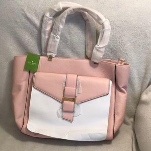 NEW KATE SPADE Pink/ Gold Janise Rosejade Bag